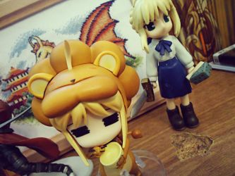 Saber and Saber Lion by lilianadc
