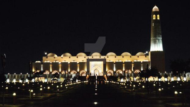 State Mosque of Qatar - Front by alimjshafi