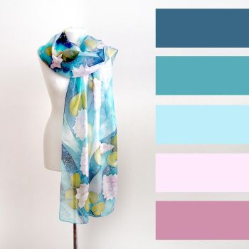 Waterlilies scarf with color set by MinkuLul