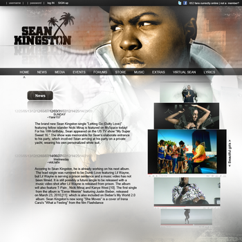 sean kingston website V1.0 by yanirsch