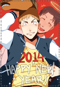 Happy New Year 2014! by seiryuuden