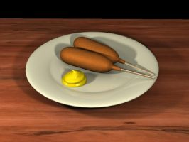 Corndogs, why not? by herbalcell