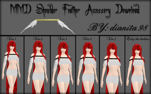 MMD Shoulder Feather Accessory Download by dianita98