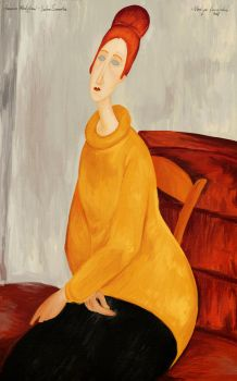 Amedeo Modigliani - Yellow Sweater | Reproduction by nakovalnya-artist