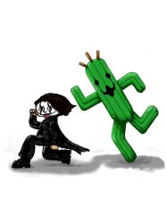 Cactuar and Crow by TonCol