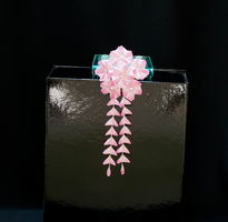 Pink Cherry Blossoms with Shidare 198 by japanesesilkflowers