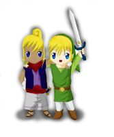 Link and Tetra by FernandaFrick