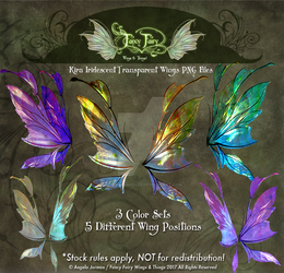Kira Fairy Wings Stock PNGs Overlays by FaeryAzarelle