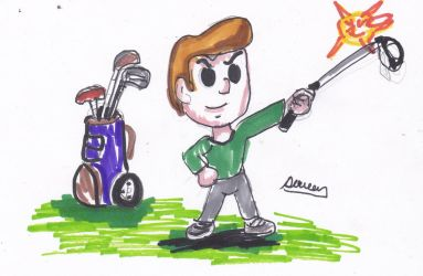 Golf story guy by Cartoontriper