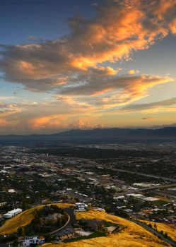 Salt Lake from the foothills by Enkphoto