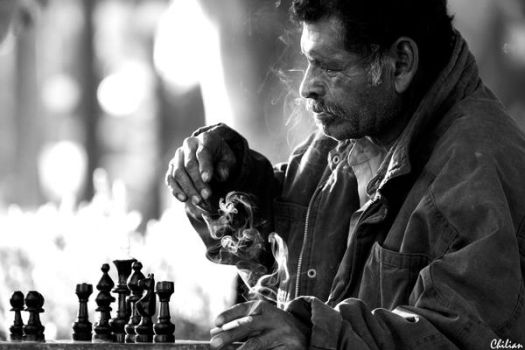 Afternoon playing chess by 1Chilian