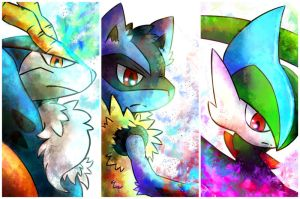 Cobalion, Lucario and Gallade