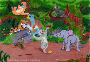 Collab - An afternoon with the Jungle cubs by Nakouwolf
