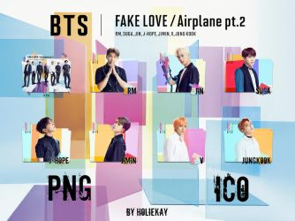BTS 'FAKE LOVE / Airplane pt.2' Icon Pack by HolieKay