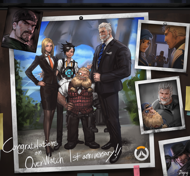 Overwatch 1st anniversary fan art. by yy6242