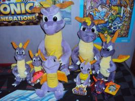My Spyro The Dragon Plushie Collection by DazzyADeviant