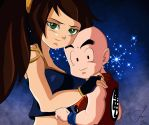 Kristine and Krillin by SaiyanGoddess
