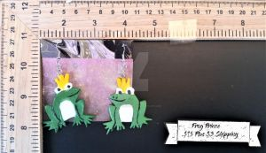 Frog Prince Earrings by TheTrueGypsyQueen