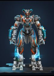 Zbrush 4R4 Robot test by Graxious