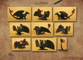 Sitting Toothless by Strecno