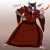 Firebending Master Splinter by Redworld96
