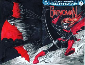 BATWOMAN sketch cover, ink and marker, for SALE by FWACATA
