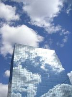 cloudy building by bombtea