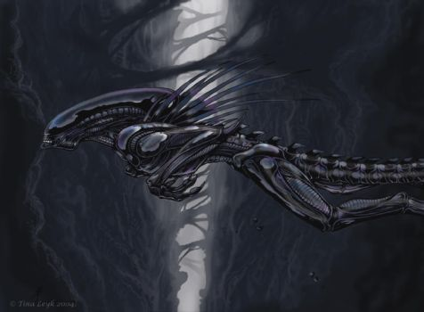 Leap Of Faith- Xeno art by jaxxblackfox