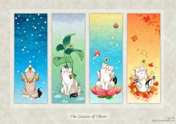 Seasons of Okami by zetallis