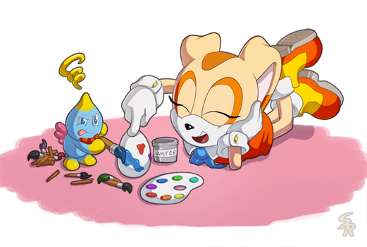 Painting Eggs by Sound-Resonance