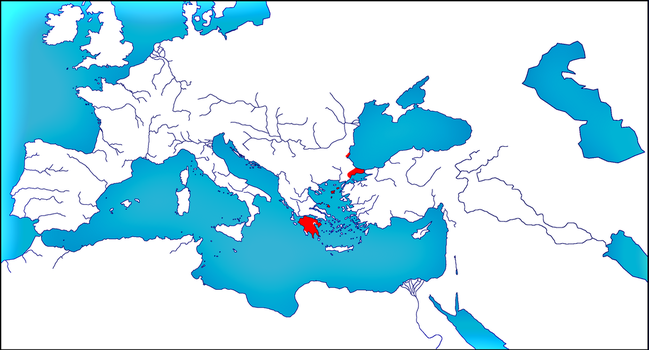 Roman Empire in 1453 by woodsman2b