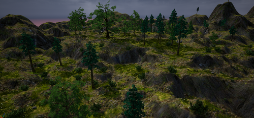Mountain and some trees by GDIForces