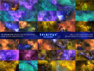 30 SPACE BACKGROUNDS - PACK 15 by ERA-7