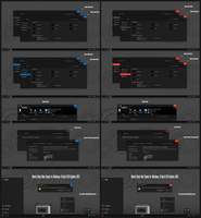 Metric Black Blue and Red Theme Win10 April 1803 by Cleodesktop