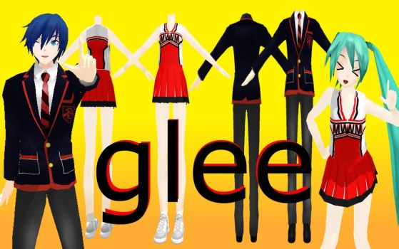 MMD Glee Uniforms Part 1 by PrincessSushiCat