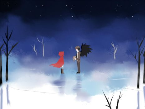 red and Raven by BloodNoryana