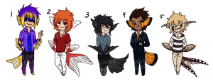 Humanfish Adopts- CLOSED by Mouseleaf