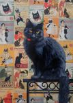 The Black Cat - PAINTING by AstridBruning
