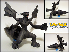 Zekrom Papercraft by Skeleman