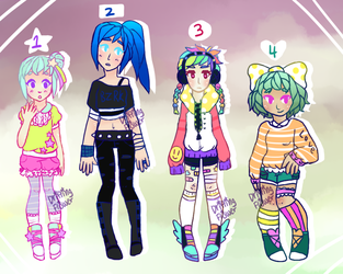 Adopts [1/4 OPEN] by hello-planet-chan