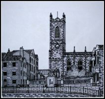 Oldham parish church by PENANDINKDRAWINGS