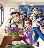 Gumshoe's potted friend by rijinks