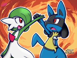 Pokken Tournament: Gardevoir and Lucario by Gamer-Princess8
