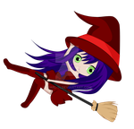 Chibi Falling Witch by pearl-14