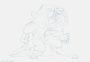 Daily Sketch: The Beast by luxandnox