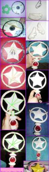 Sakura Star Staff Hoop by TheAnna