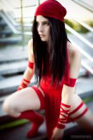 Marvel Elektra cosplay by Gennadia