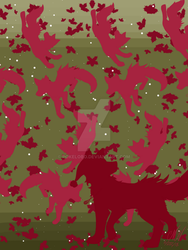 Wallpaper~ Poochina In Red And Green by Pokelobo