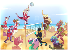 .: Chimereon Event - Volleyball - Prompt I :. by TheBlackCatsTale