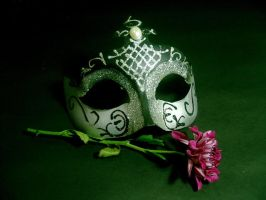 Flower and Mask by disenchantedstock